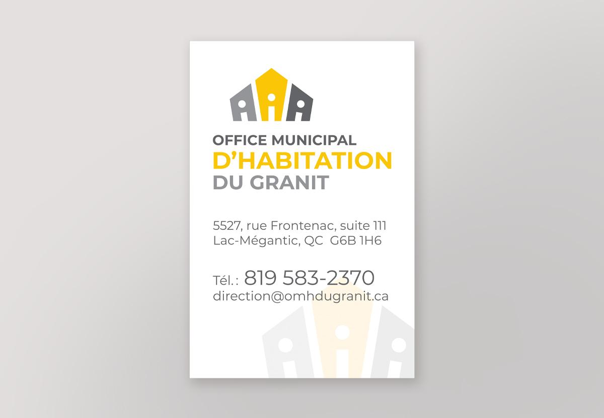 Affichage office municipal habitation Granit